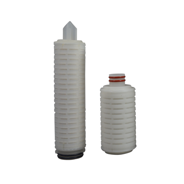 liquid water or air treatment PP/PTFE/PES/N66 /PVDF water filter cartridge absolute 0.1micron folding filter cartridge