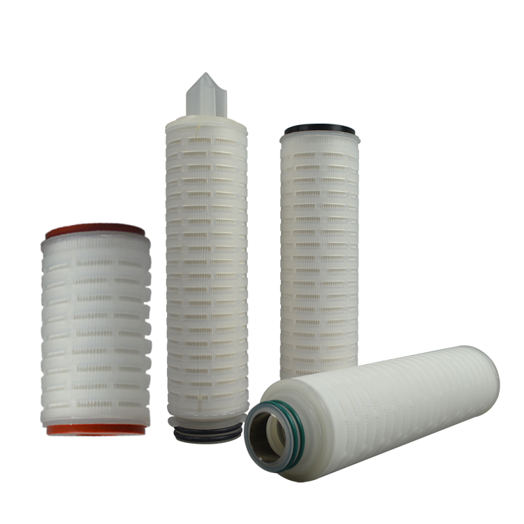 China supplier 10 inch pleated folded cartridge filter/222 pleated filter for water filter cartridge replacement