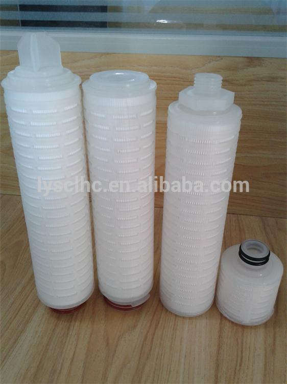 10 20 40 inch Sanitary inline filter housing cartridge with 226 222 Fin Polypropylene filter