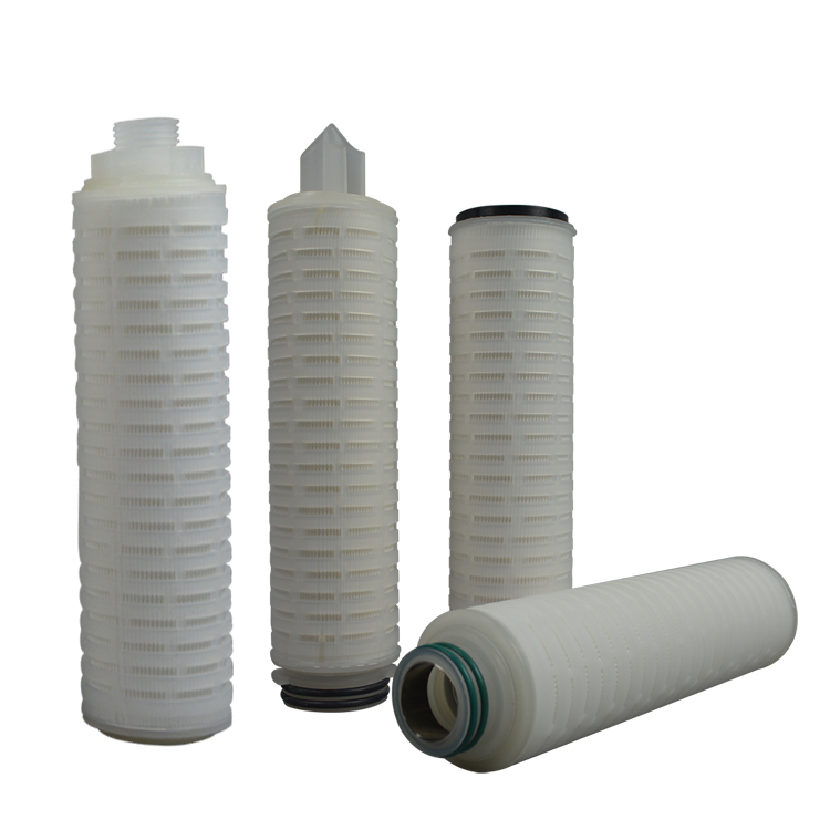 RO water filter replacement parts Slim double opened 10 micron 10 inch pleated sediment cartridge filter
