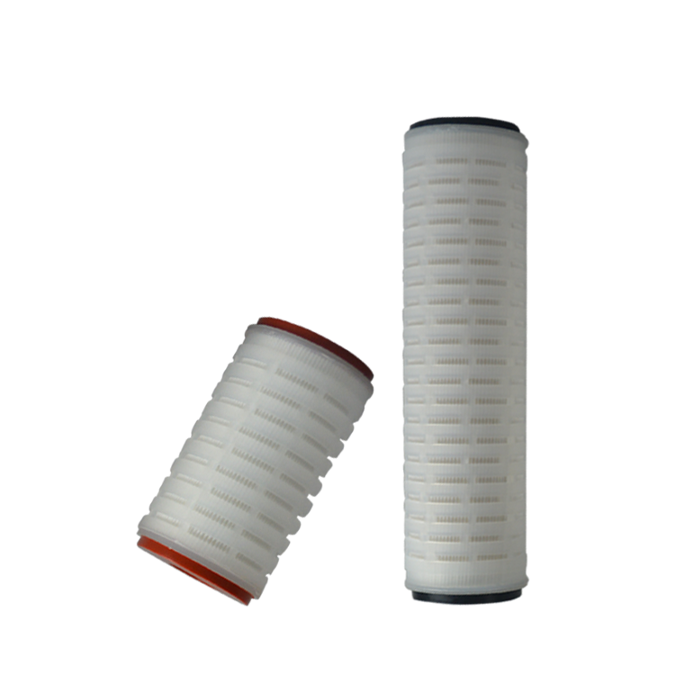 Promotional Good Quality 10 inch ptfe pleated filter cartridge for drinking water