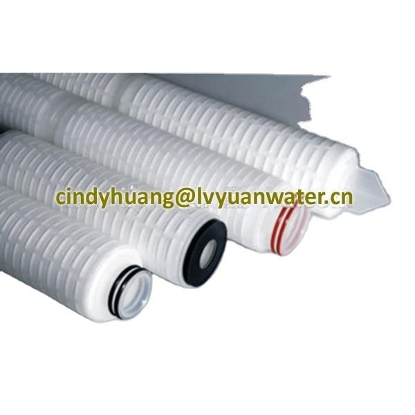 Pleated membrane liquid filtration water oil filter30 inch PP polypropylene 10 microns filter element