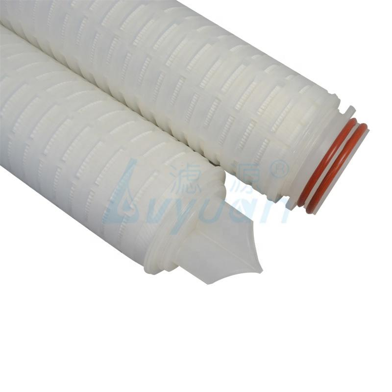 Absolute rated nylon/pp/pvdf/ptfe/pes pleated filter cartridge for food and beverage industry