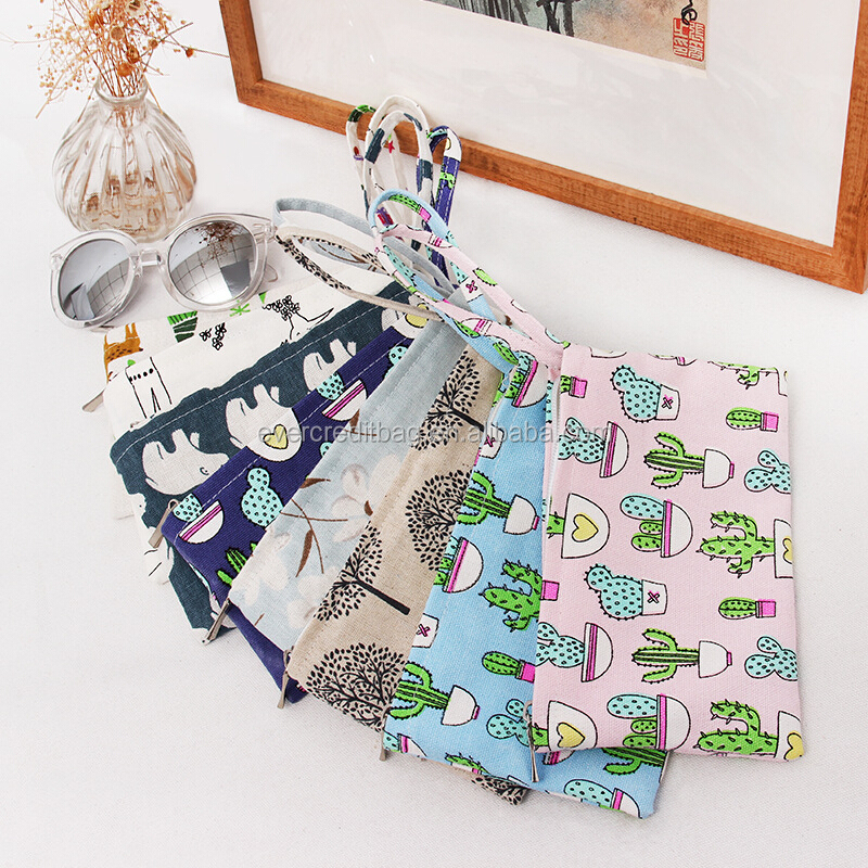 New Print Cotton Coin Pouch Phone storage bag Pencil Bag