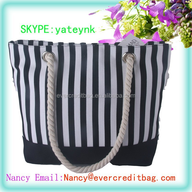 Cheap Stripe Beach Bag without MOQ Require