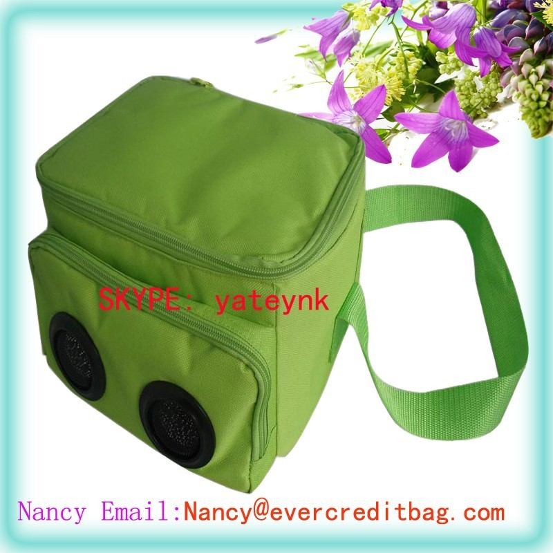 6-Pack Can Cooler Bag with Radio