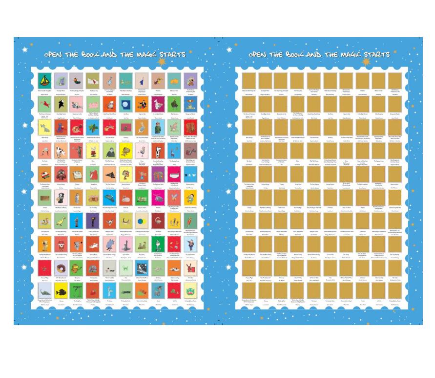 product-High Quality Scratch off 100 Must Read Books Bucket List Poster for kids,custom logo-Dezheng-1