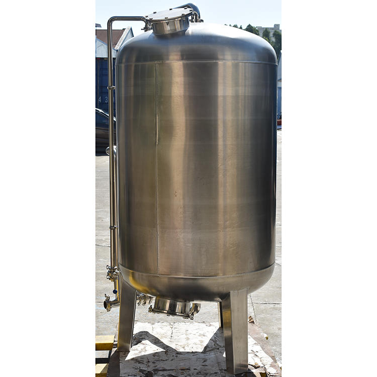 Industrial high pressure steel water filter tank for water treatment pretreatment