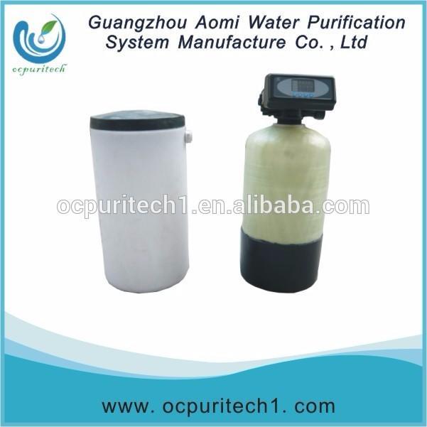 Hard water softening plant water softener resin