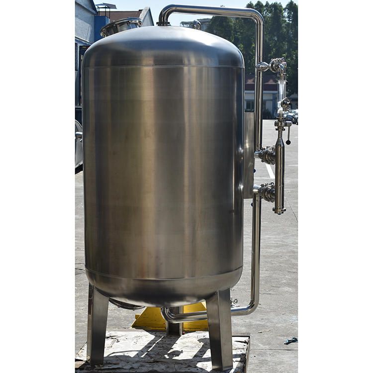 Industrial stainless steel activated carbon filter tank