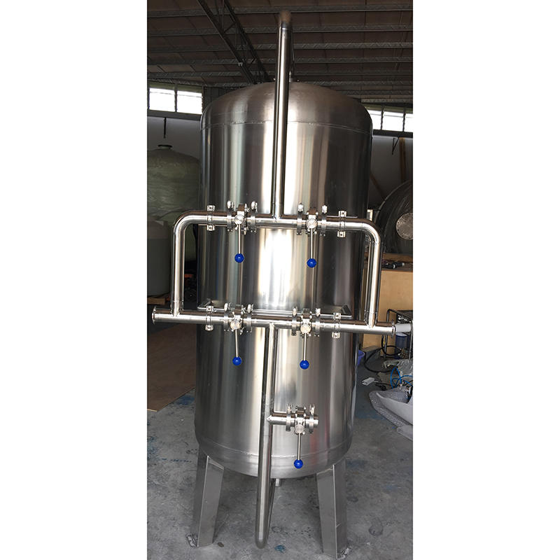 10M3/hr stainless steel sand filter and carbon filter