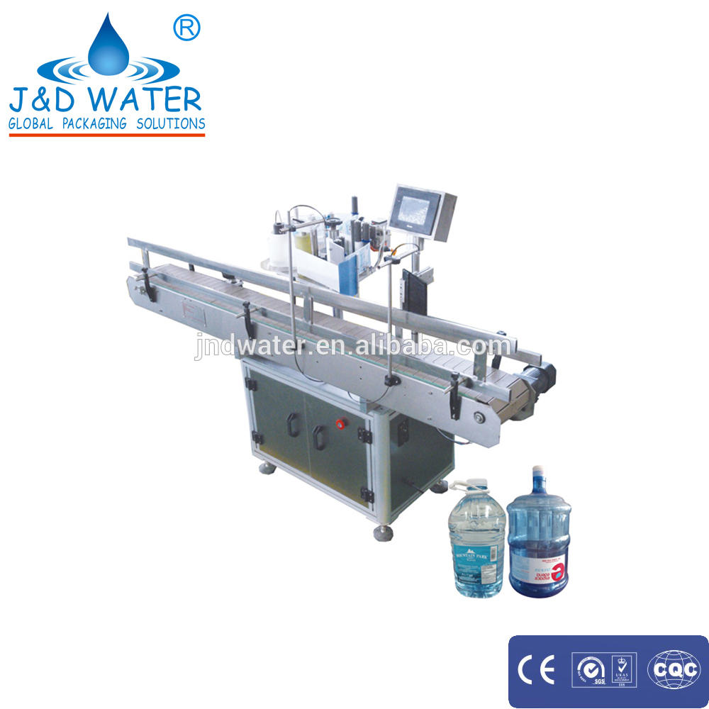 Height and angle can adjustable automatic stick labeling machine for big round bottle