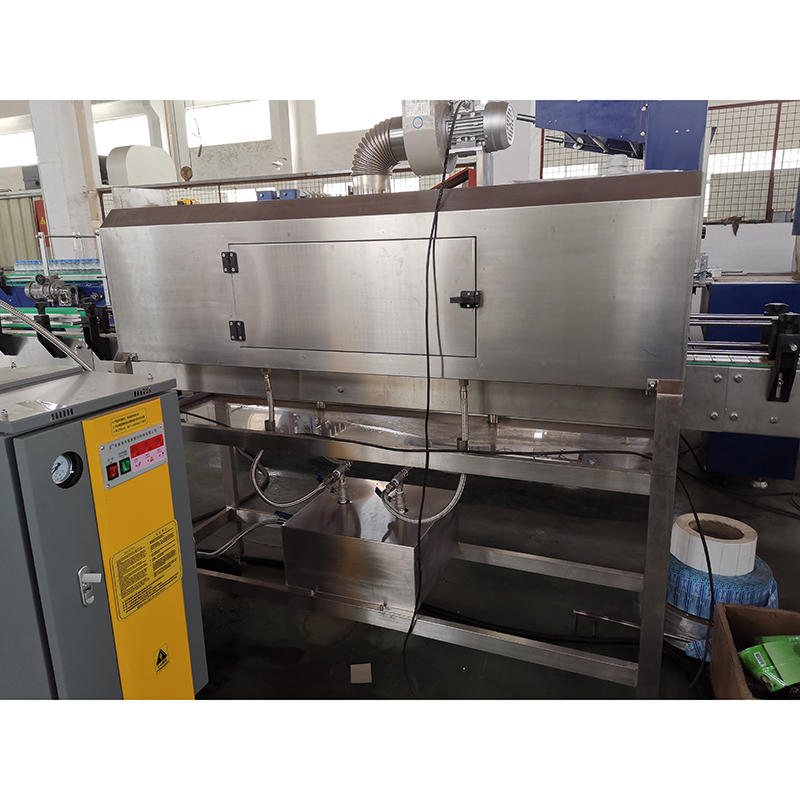 high speed mineral water shampoo shrink wrap bottle sleeve labeling machine for can plastic bottles