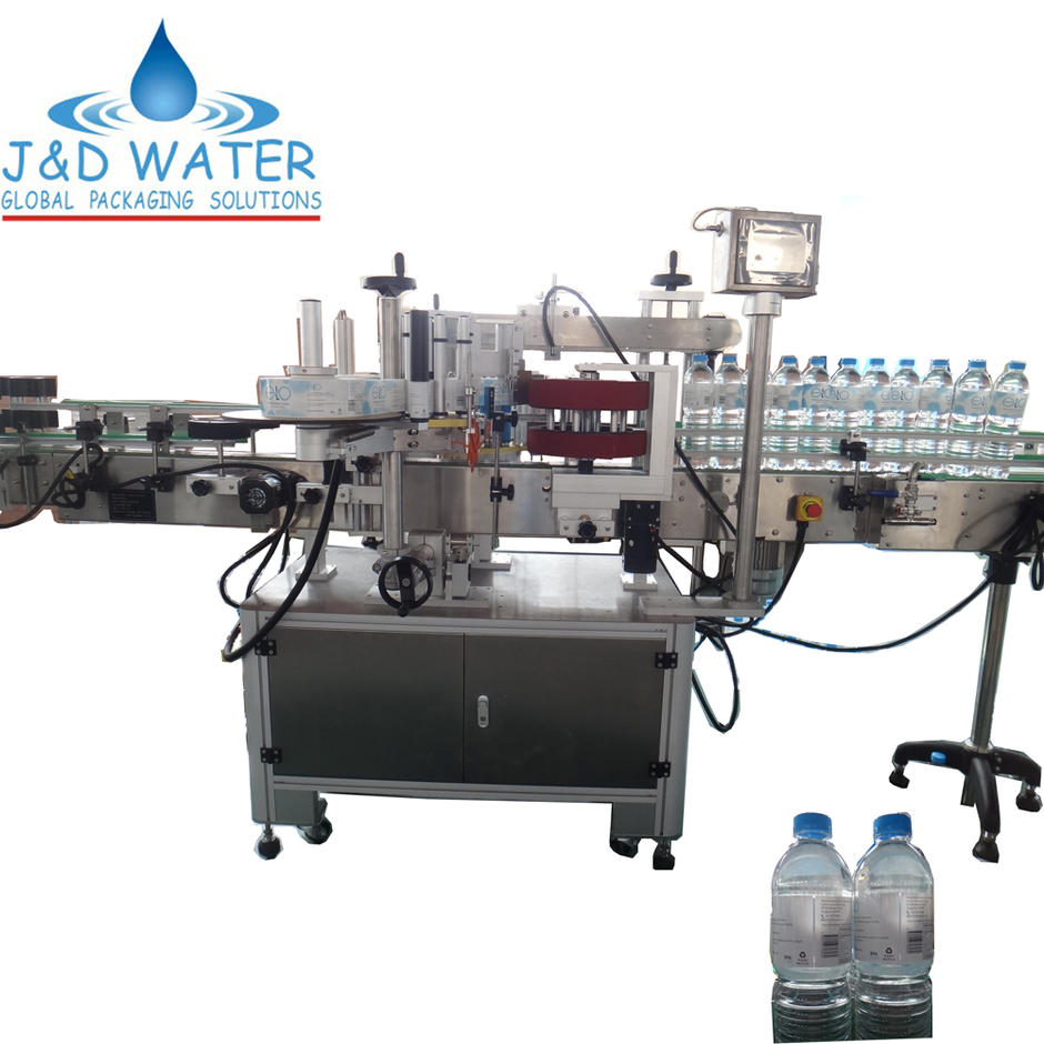 Automatic sticker round water bottle labeling machine
