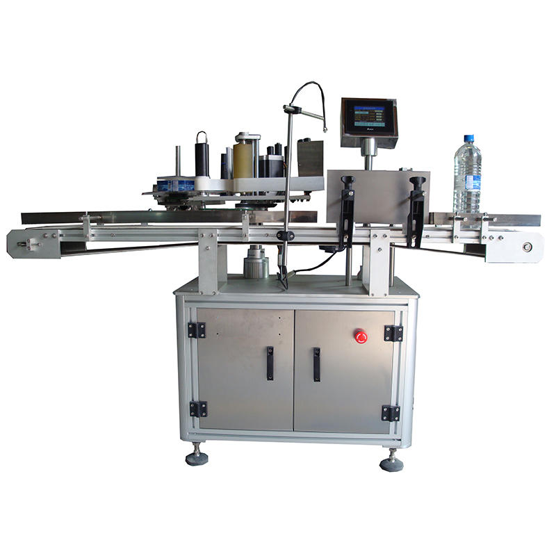 Best quality beer flat round bottle double sides labeling machine for small bottles