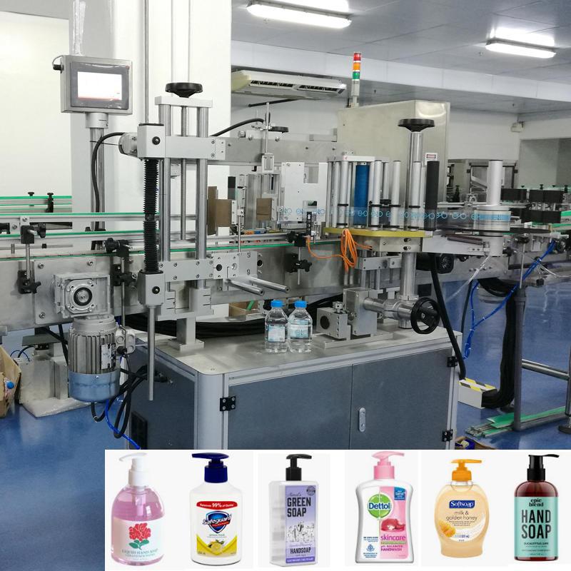 Automatic liquid hand wash hand soap bottle self-adhesive label machine