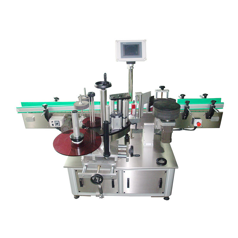 Best quality single sided shampoo square mineral water bottle sticker labeling machine