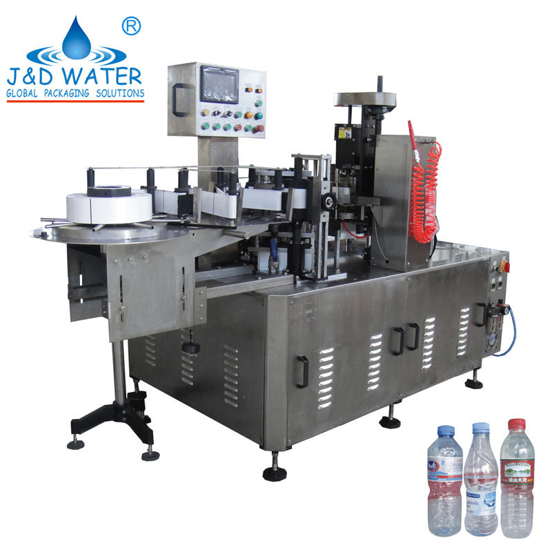 Automatic OPP hot glue mini labeling machine with hot stamp coder