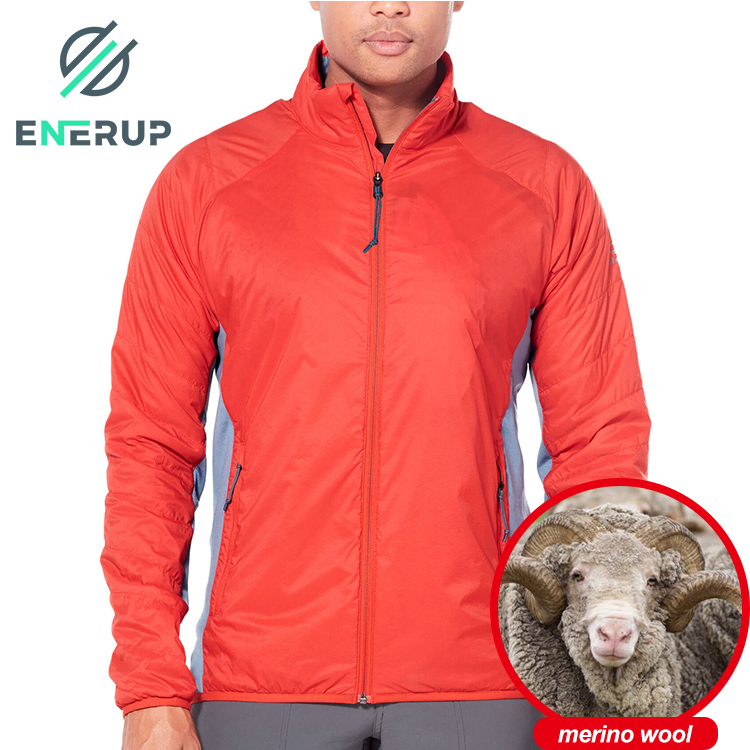 Enerup Luxury Merino Wool Fleece Varisty Veste Pour Homme Giacca Uomo Utility Jacket For Men