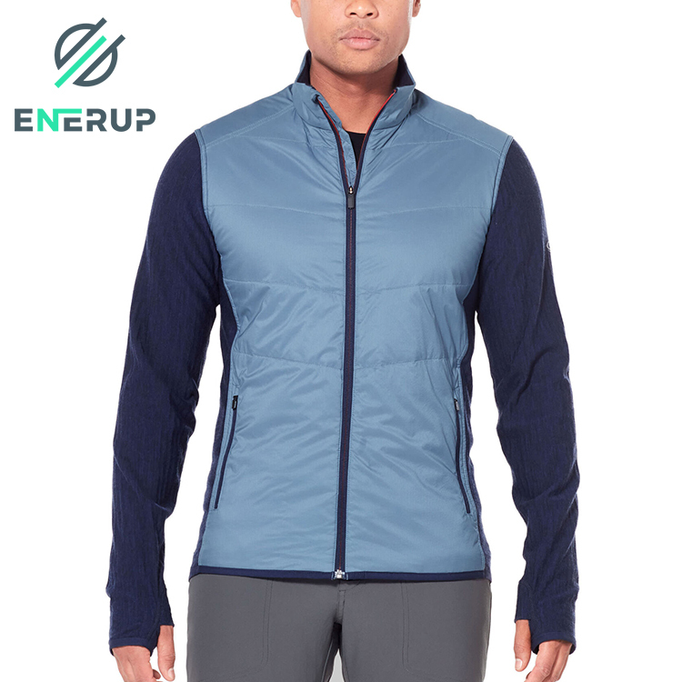 Enerup Fashion Sports Running Black Merino Wool Fleece Sublimation Softshell Veste Pour Varisty Jacket For Men