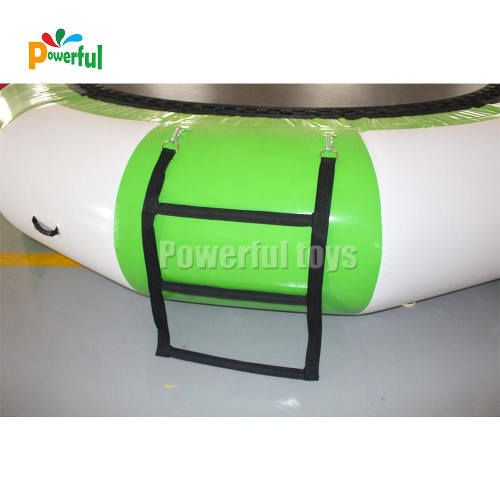PVC Tarpaulin Inflatable Water Toys Water Trampoline with Climbing Ladder for Fun