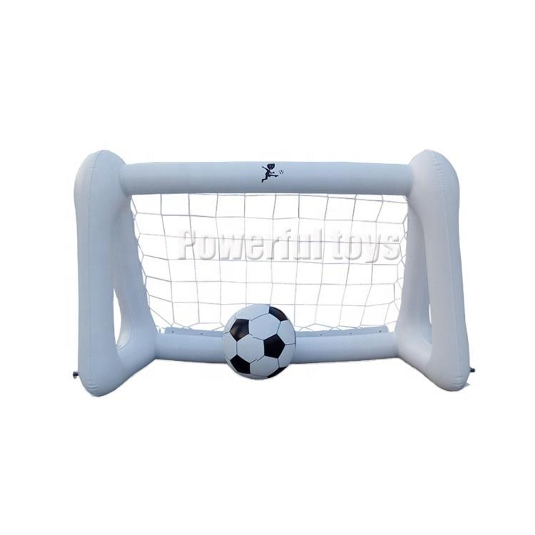 Ready to ship outdoor baby football shooting game inflatable soccer shooting goal