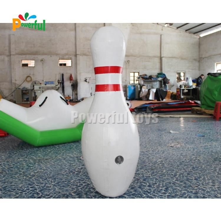 Outdoor interactive game inflatable blowing pins