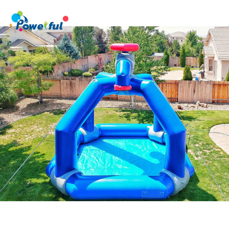 Backyard Water Game Carnival Inflatable Water Splasher Game With Pool