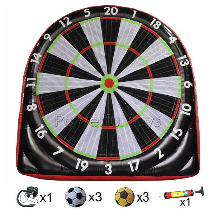 Inflatable soccer shooting target, inflatable football dartboard
