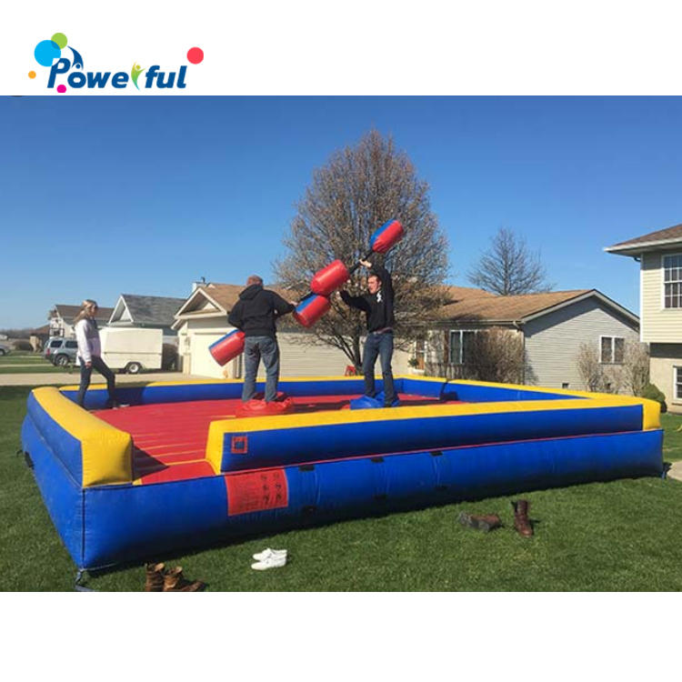 Popular Game Inflatable Gladiator Arena With Foam Jousting Stick
