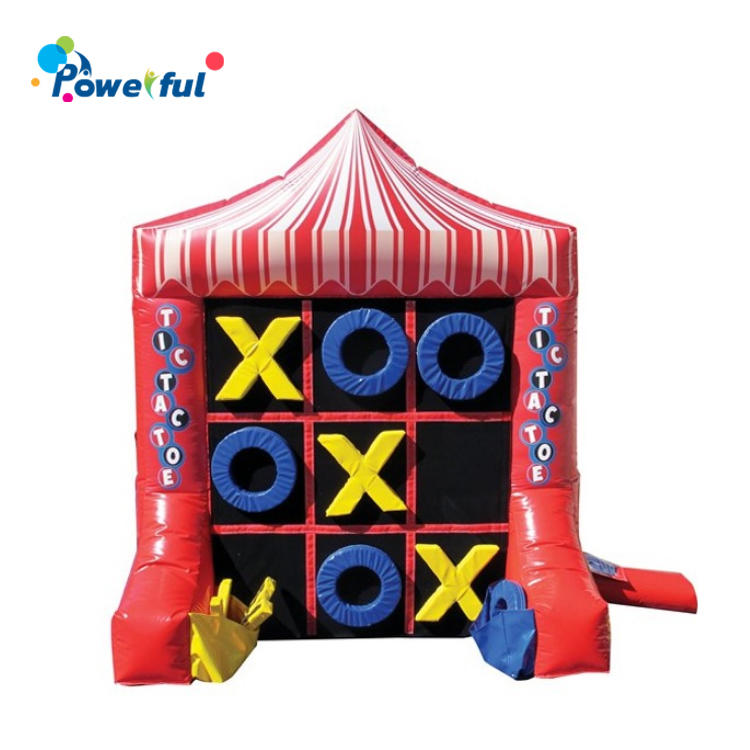 Party Rental Inflatable Tic Tac Toe Board Game 4 Spot Combo