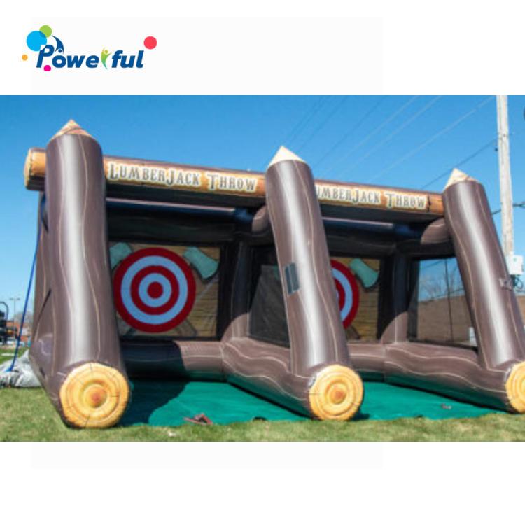 Double Lane Axe Throw Game Inflatable Axe Throwing For Rental