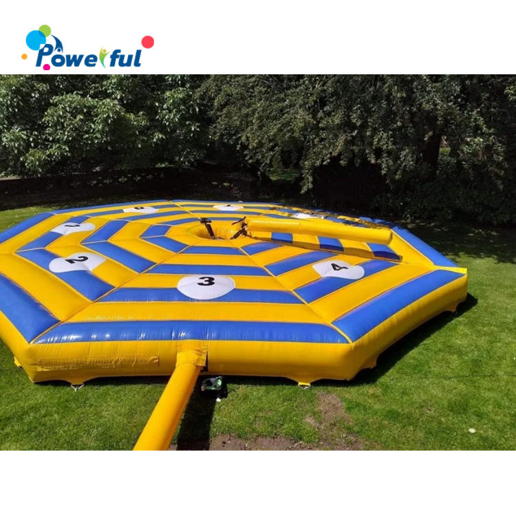 cheap 9 players inflatable Last Man Standing/ Wipe Out inflatable total wipeout sweeper game for sale