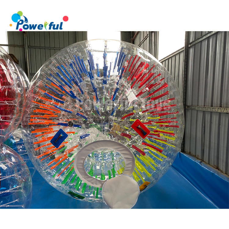 Customized size human hamster ball inflatable fluorescence zorb ball
