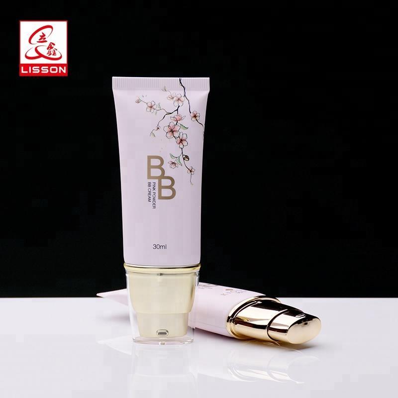 China hot stamping 40ml cosmetic airless tube