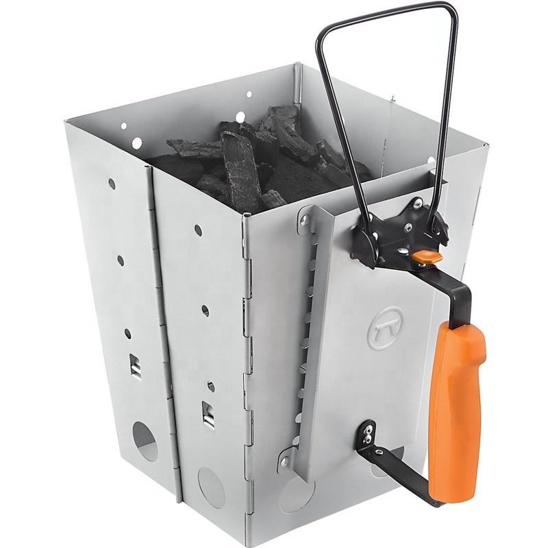 Collapsible BBQ Chimney Starter Galvanized Steel Chimney starter