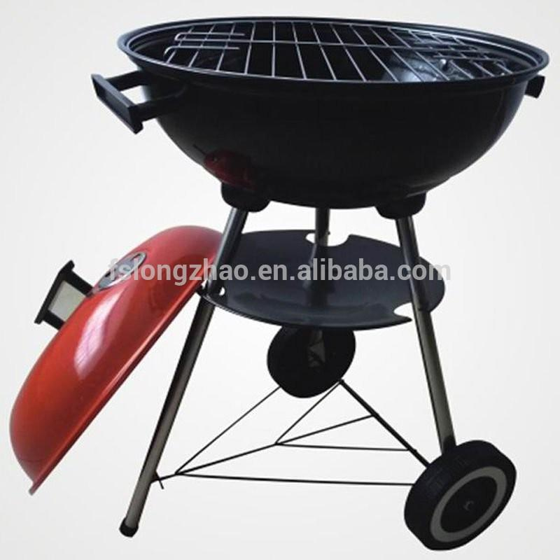 Portable trolley charcoal barbecue grill designs BBQ grill