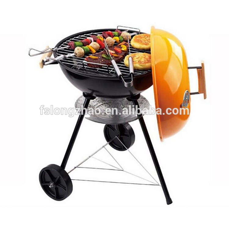 Apple BBQ Kettle Grill 3 legs Trolley Outdoor Charcoal Barbeque Grill