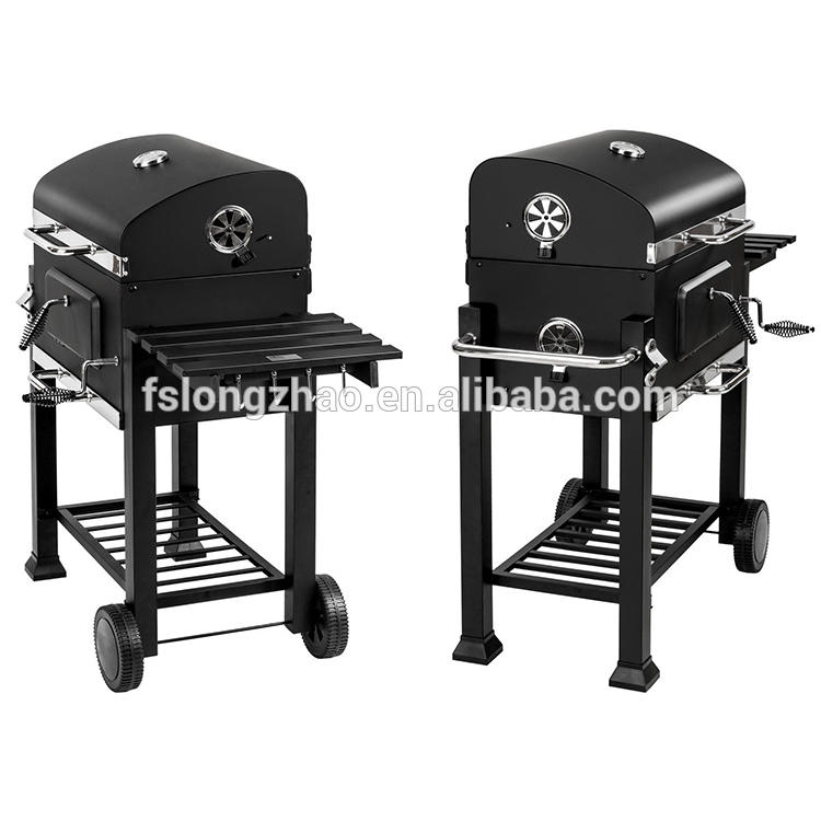 Outdoor meat cooker beefmaster charcoal grill BBQ