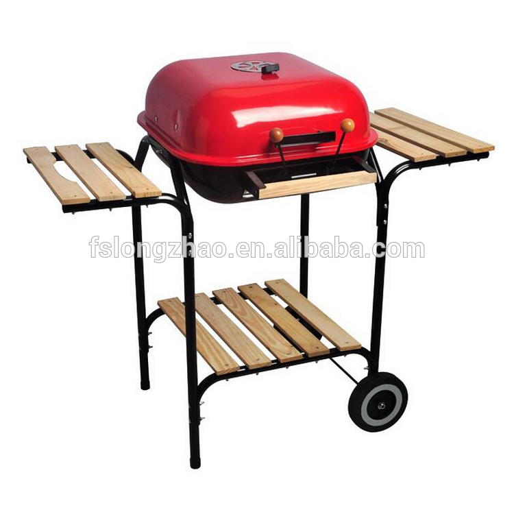 Apple Shaped BBQ Grill Charcoal Kebab Grill Machine With Side Table