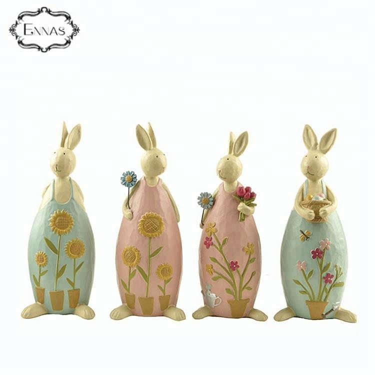 Modern design rabbit statues holiday event resin art decoration