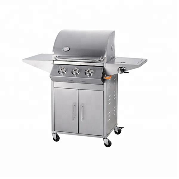 3 Burners+side Burner Gas Grill BBQ Grill With CE Approval