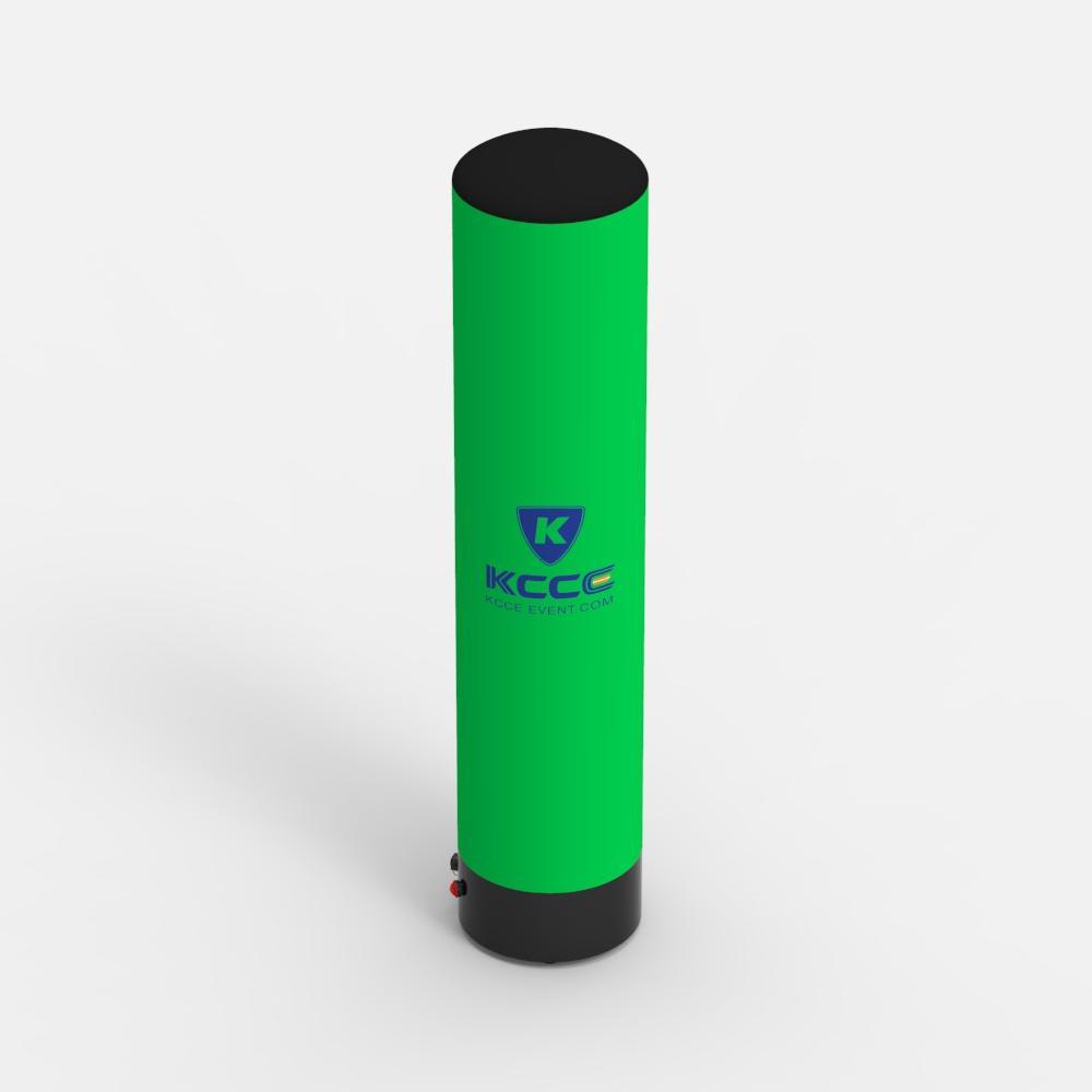 15ft 3M 5m 6m full printing sealed display LED light inflatable pillar, inflatable cylinder tube //