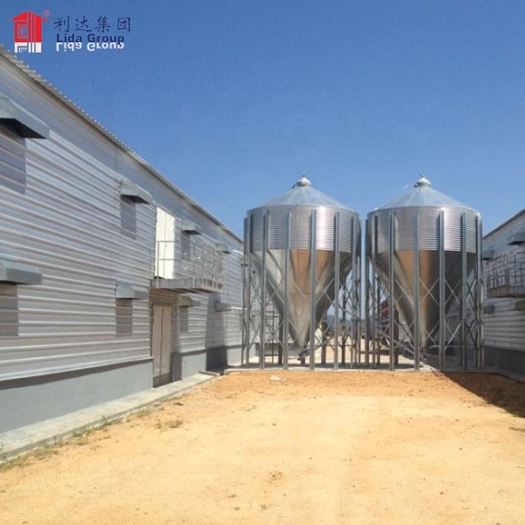 Hot dip galvanized 15mX100m poultry farm house construction design for Sri Lanka