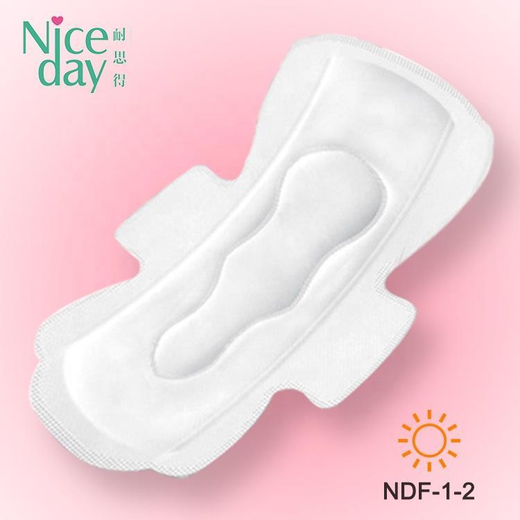 Super wings free samples sanitary napkin PE film raw material ladies sanitary pads reusable menstrual pad korea