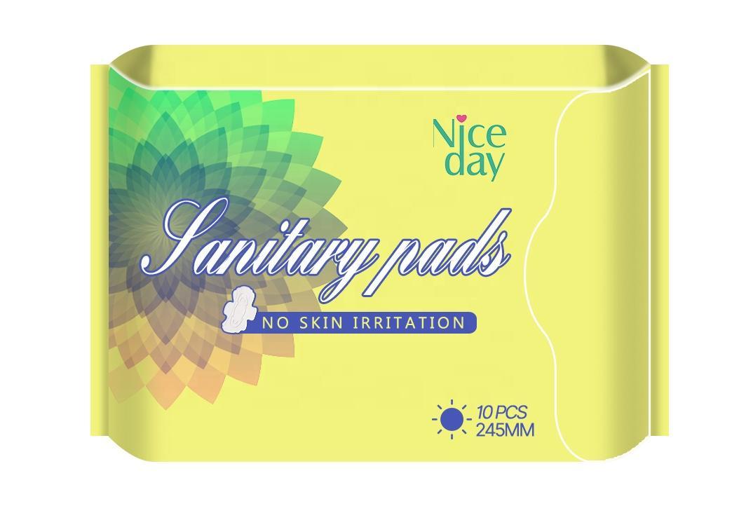 Customized ultra soft comfort sanitary pad chlorine free sanitary napkin private label disposable feminine hygiene