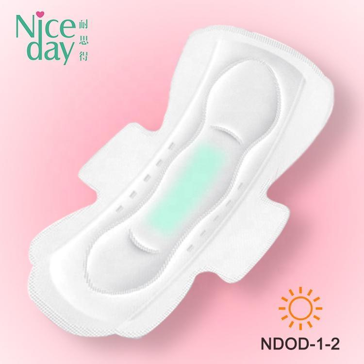 Colorful day use comfort women pad sanitary napkin