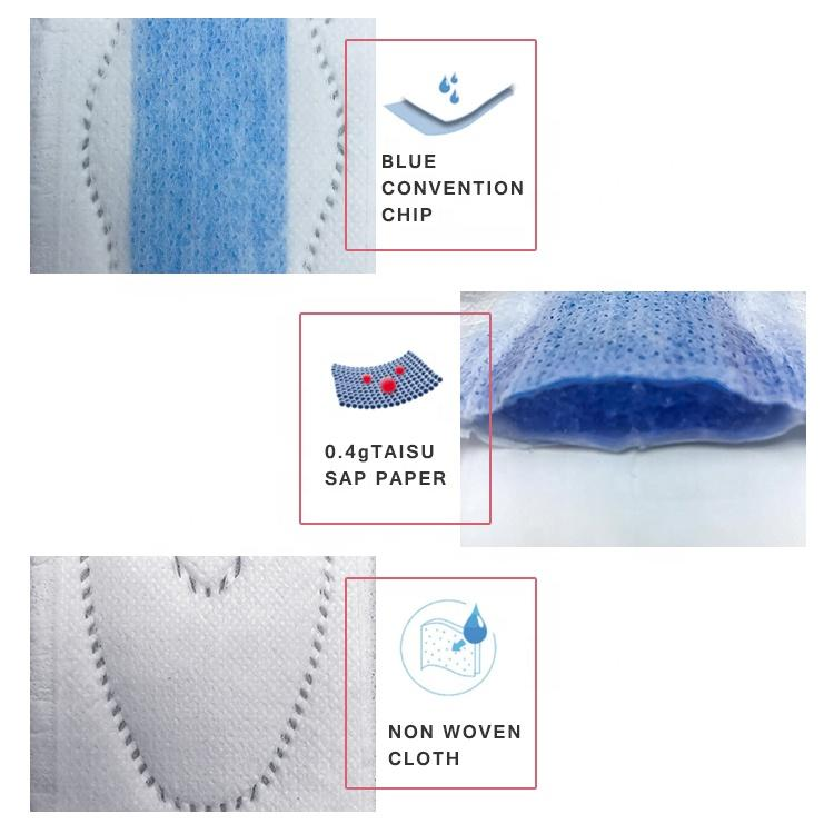 Rapid diversion super wings ladies pad size 285mm soft touch period pads sanitary