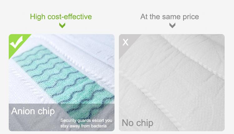 Cost-effective anion sanitary napkins soft touch anion pad sanitary napkin good absorbency feminine pads