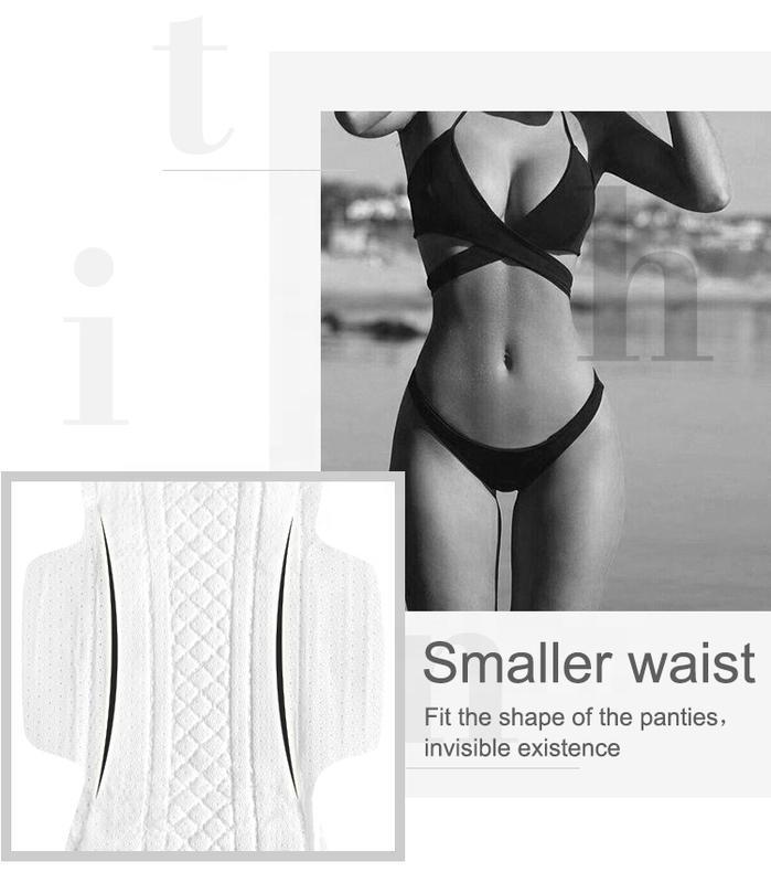 OEM dry net lady small waist sanitary napkin supplier
